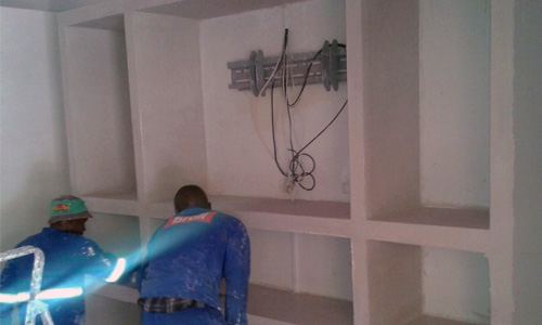 Ceiling and Partition Installers Working
